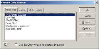use ms query with text files for