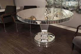 custom round mirrored dining table for