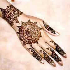 Back Side Mehndi Design Simple And Easy Round