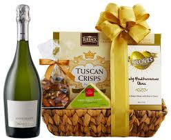 90 point prosecco cheese gift basket