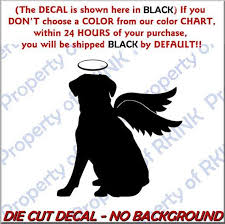 Dog Memory Angel Wings Design 6 Vinyl Decal Car Truck Window Etsy