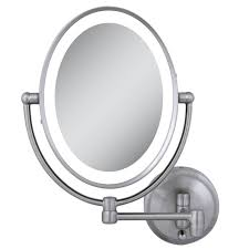 wall mount lighted makeup mirror