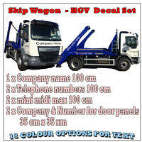 Semi Rig Truck Vin Qty 2 Not For Hire Set 3 Vinyl Decal Sticker