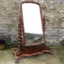 a fine victorian cheval mirror in mahogany