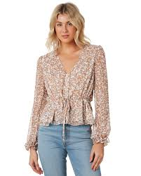 The East Order Abigail Long Sleeve Top - Marigold Meadows | SurfStitch