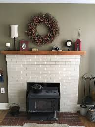mantle shelves made from reclaimed wood