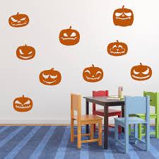 Creepy Pumpkin Halloween Wall Decal Sticker Set Ws 32649 Ebay