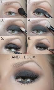 eye makeup looks for navy blue dress