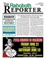 june 2016 rehoboth reporter by