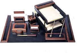 dacasso walnut and black leather desk