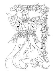 Celtic Fairy Coloring Pages