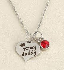 silver pendant father daughter