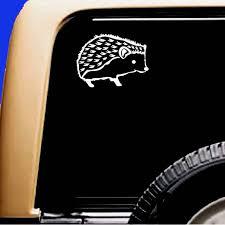 Hedgehog Vinyl Car Window Pet Vinyl Decal Sticker Original Etsy