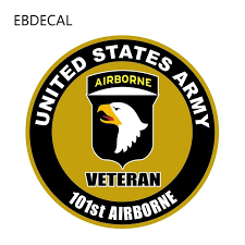 Ebdecal Army 101st Airborne Veteran Decal For Auto Car Bumper Window Wall Decal Sticker Decals Diy Decor Ct11249 Car Stickers Aliexpress