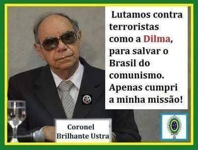"""Resultado de imagem para Imagens do coronel Carlos Alberto Brilhante Ustra"""""""