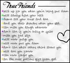 true friends friends quotes sayings sentences kaira tess large