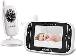 Amazon Com Video Baby Monitor With Camera And Audio Keep Babies Nursery With Night Vision Talk Back Room Temperature Lullabies 960ft Range And Long Battery Life Electronics