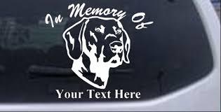 In Memory Of Labrador Retriever Decal Car Or Truck Window Decal Sticker Rad Dezigns