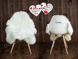 sheepskin faux fur chair cover rug