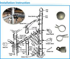 Commercial Grounds Chain Link Fence Fittings Aluminum Die Casting Fence Post Of Chain Link Fence Fittings