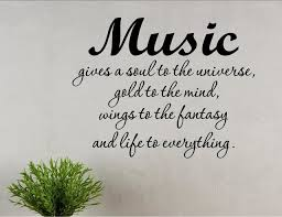 Music Gives A Soul To The Universe Gold To The Mind Wall Decor Stickers Contemporary Wall Decals By Vinylsay Llc