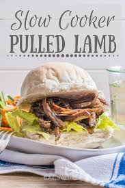 slow cooker pulled lamb the hedgebers
