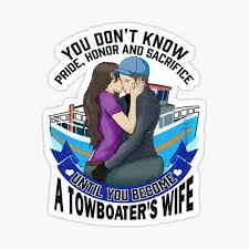 Towboat Stickers Redbubble