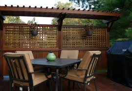 oriental wooden fence for chic deck