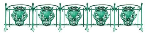 Decorative Fence In French Art Nouveau Style Stock Photo Image Of Antique Railing 148461210