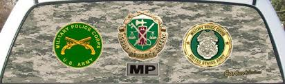 Us Army Mp Military Police Truck Rear Window Graphic Mural Police Truck Rear Window Military Police