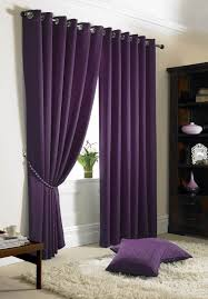 purple curtains bedroom