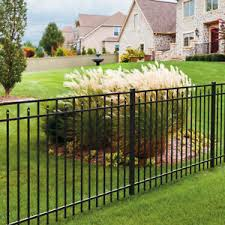 4 High X 6 Wide Carolina Style Aluminum Fence Panel 3 Rail Black Ebay