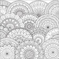 Hand Getekend Bloemen Mandala Achtergrond Voor De Kleurplaat