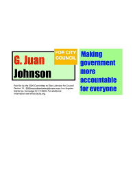 2020 Committee to Elect G Juan Johnson Council District 10 - Home ...