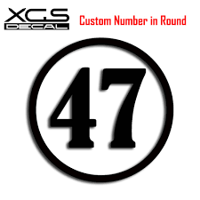 Xgs Decal Custom Racing Number In Round Vinyl Die Cut Car Motorcycle Truck Waterproof Stickers Car Stickers Aliexpress