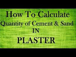 how to calculate quany of cement and