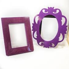 ikea accents lot of 2 purple frames