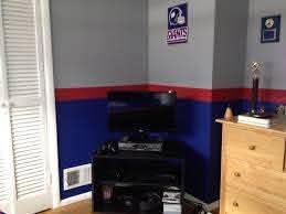 Ny Giants Bedroom Giants Bedroom Football Room Decor Minimalist Kids Room