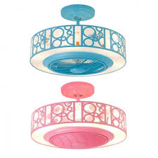 Bladeless Led Kids Room Ceiling Fan With Light In Blue Pink Beautifulhalo Com