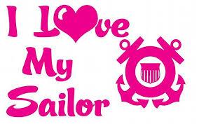 Uscg I Love My Sailor Vinyl Car Decal Us Lilbitolove