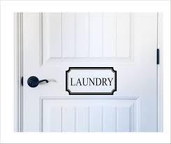 Laundry Door Decal Vinyl Decal For Farmhouse Laundry Room Door Etsy