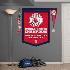 Boston Red Sox World Series Champions Banner Wall Decal Shop Fathead For Boston Red Sox Decor Red Sox World Series Red Sox Room Wall Decal Sticker