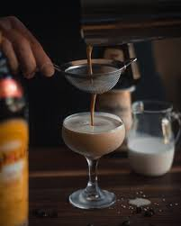 a creamy coffee dessert drink
