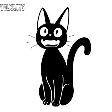 Volkrays Cartoon Car Sticker Jiji Cat Accessories Reflective Waterproof Cover Scratches Vinyl Decal Black Silver 12cm 7cm Car Stickers Aliexpress