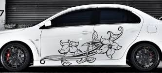 Amazon Com Floral Flower Car Boat Vinyl Graphics Decal Left Right Side Vinyl Sticker Z970 Home Kitchen