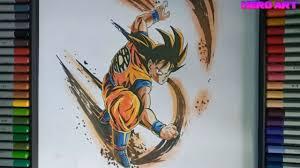 cách vẽ son goku thời niên thiếu-dragon ball-HERO ART