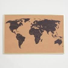 World Map Corkboard In Frame World Market