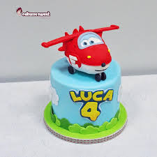 Jett One Of Characters Of Super Wings Cartoon With Decorated