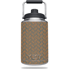 Skin Decal Wrap For Yeti Rambler One Gallon Jug Orange Blue Basket Walmart Com Walmart Com