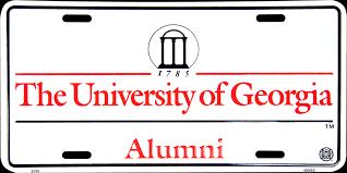 The University Of Georgia Alumni License Plate Uga License Plates Uga Auto Tags